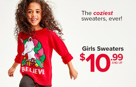 $10.99 and Up Girls Sweaters from Rainbow