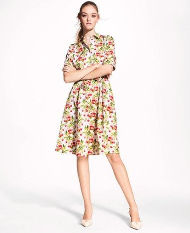 Brooks Brothers Cherry-Print Cotton Sateen Shirt Dress ($228)