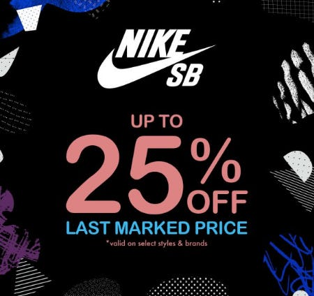 Nike SB up to 25% Off