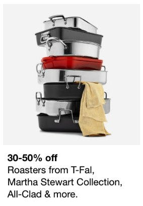 30-50% Off Roasters from T-Fal, Martha Stewart Collection, All-Clad and More from macy's