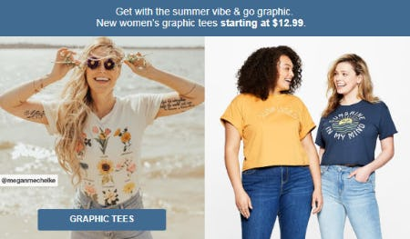Graphic Tees Starting at $12.99 from Target