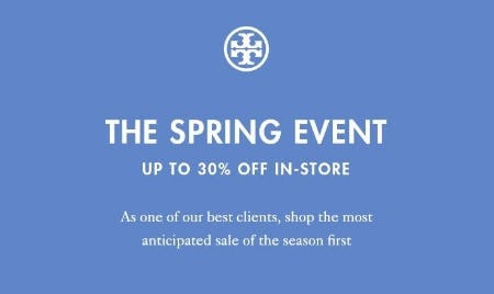 08e77be9636 Sale at Tory Burch. The Spring Event  Up to 30% Off