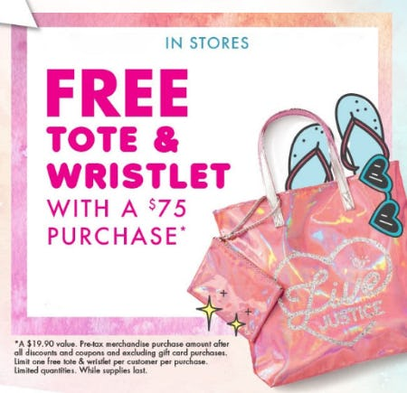 Free Tote & Wristlet with Purchase from Justice