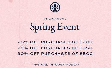 The Annual Spring Event