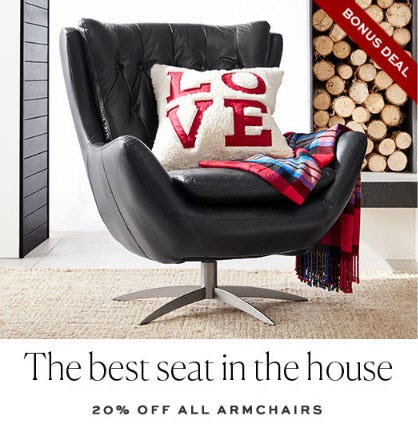20% Off All Armchairs