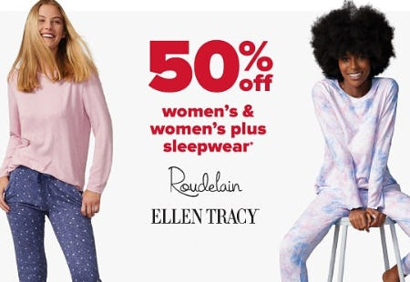 50% Off Women's & Women's Plus Sleepwear from Belk