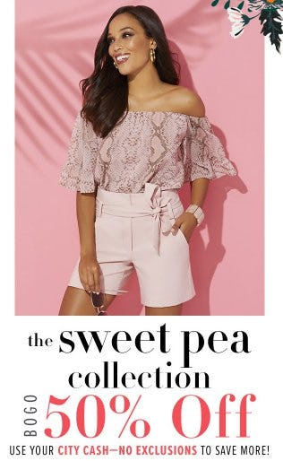 The Sweet Pea Collection BOGO 50% Off from New York & Company