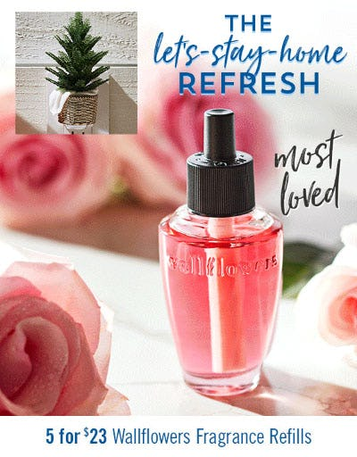5 for $23 Wallflowers Fragrance Refills from Bath & Body Works/White Barn