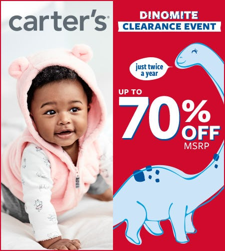 Dinomite Clearance Event Up to 70% Off* from Carter's