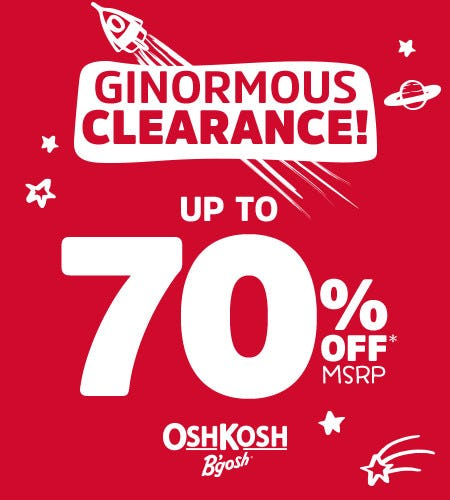 Ginormous Clearance Up to 70% Off* from Oshkosh B'gosh