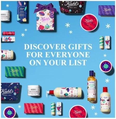 Gifts for Everyone on your List from Kiehl's