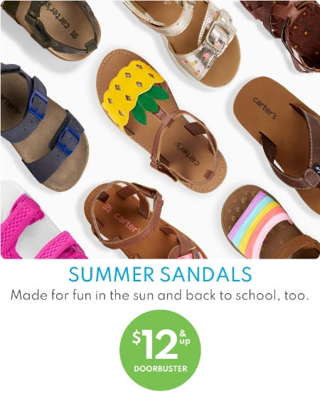 Summer Sandals $12 & Up Doobuster from Carter's