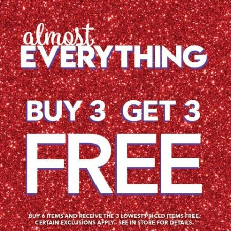 Buy 3, Get 3 Free Almost Everything from Claire's