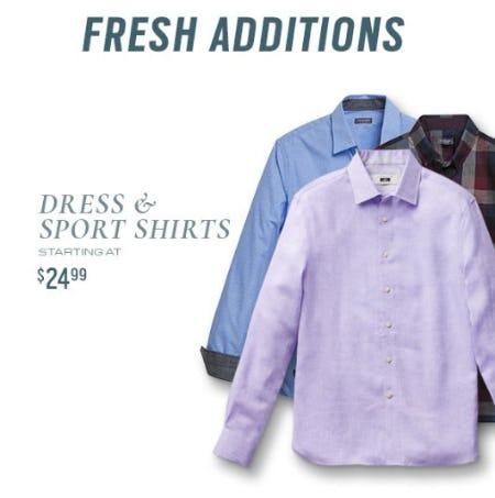 Dress & Sport Shirts Starting at $24.99