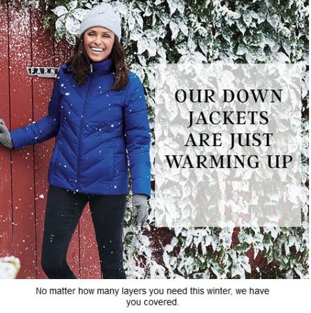 Shop Our Down Coats