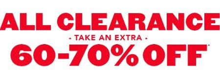 Extra 60-70% Off All Clearance