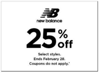 25% Off New Balance from Kohl's