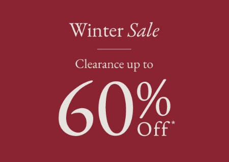 Up to 60% Off Winter Sale