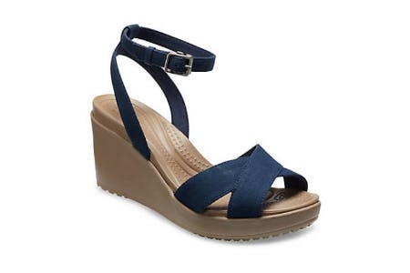 Women's Leigh II Cross-Strap Ankle Wedge from Crocs