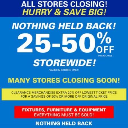 25-50% Off Storewide