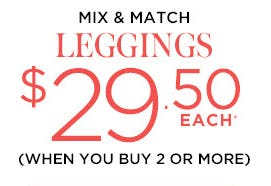 Leggings: $29.50 Each When You Buy 2 or More from A Pea In The Pod