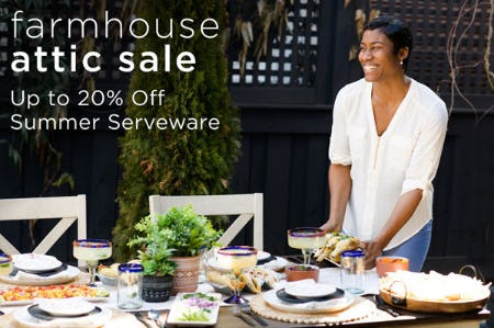 Up to 20% Off Summer Serveware from Kirkland's