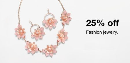 Fashion Jewelry 25% Off