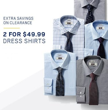 2 for 449.99 Dress Shirts from Men's Wearhouse