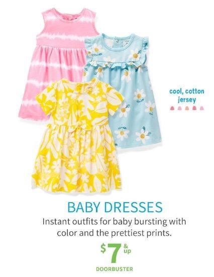 Baby Dresses $7 & Up Doorbuster from Carter's