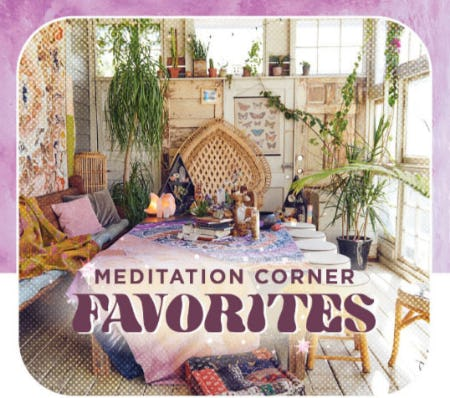 Meditation Corner Favorites from Earthbound Trading Company