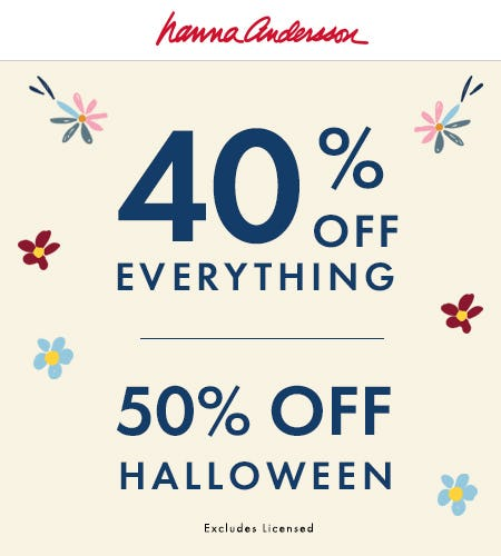50% Off Halloween, 40% Off Everything Else