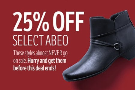 25% Off Select ABEO from THE WALKING COMPANY