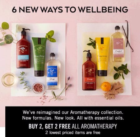Buy 2, Get 2 Free All Aromatherapy Body Care