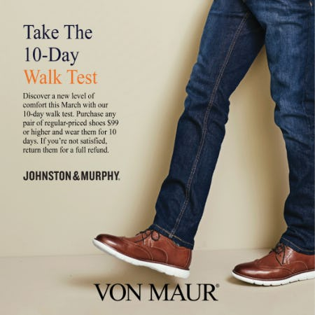 Johnston & Murphy Walk Contest from Von Maur