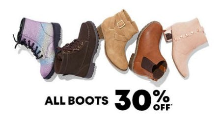 All Boots 30% Off from The Children's Place