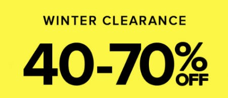 Winter Clearance 40-70% Off