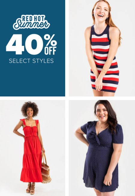 40% Off Select Styles from francesca's