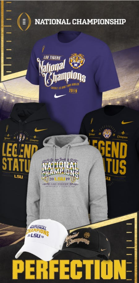 Celebrate with LSU Championship Gear