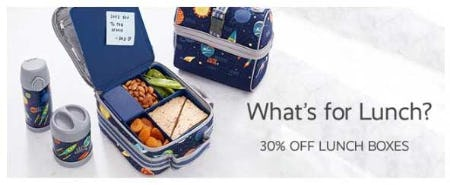 30% Off Lunch Boxes from Pottery Barn Kids