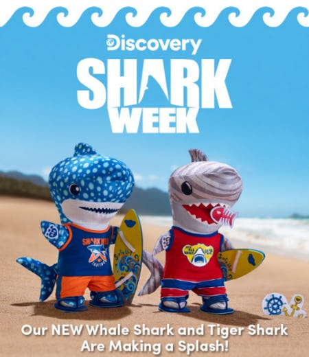 Our New Whale Shark and Tiger Shark from Build-A-Bear Workshop