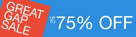 Great Gap Sale up to 75% Off Markdowns from Gap