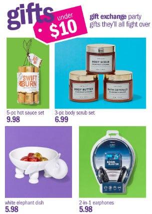 Gifts Under $10 from Gordmans
