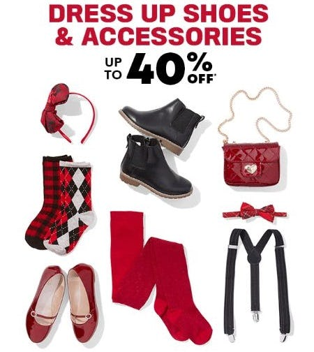 Up to 40% Off Dress Up Shoes & Accessories from The Children's Place