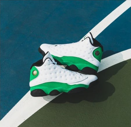 "Feel Lucky in Air Jordan 13 ""Lucky Green"" from DTLR"