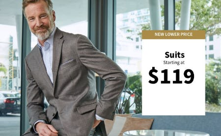 Suits Starting at $119 from Jos. A. Bank