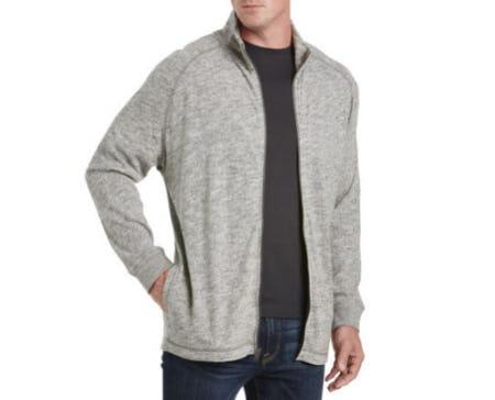 Lucky Brand Heather Full-Zip Knit Jacket