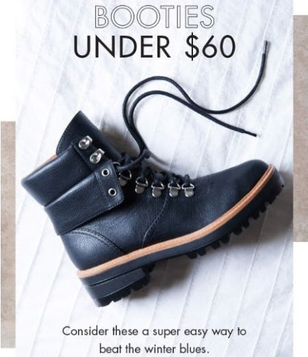596049741a08 Sale at DSW Shoes. Booties Under  60