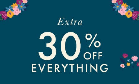 Extra 30% Off Everything
