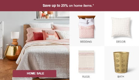 Up to 25% Off Home Items from Target