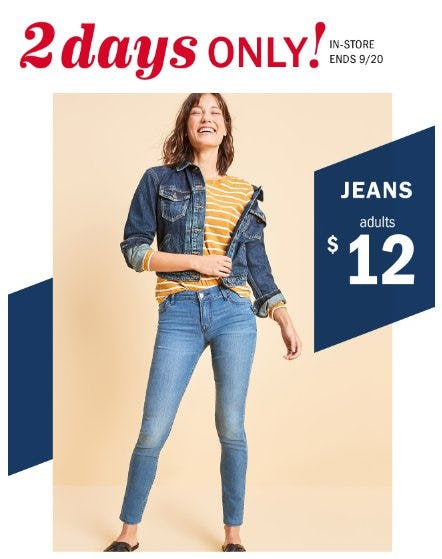 $12 Jeans for Adults from Old Navy